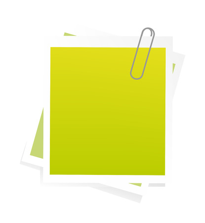nice illustration of post-it isolated on white background