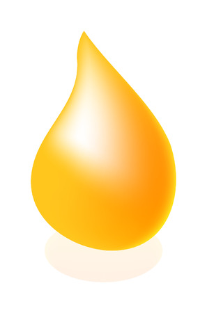 nice illustration of oil drop isolated on white background