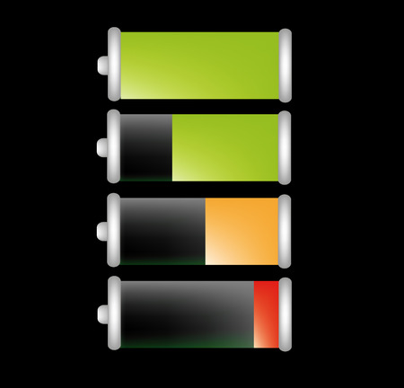 nice illustration of battery life isolated on background Vector