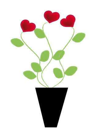 nice illustration of hearts plant isolated on background Vector