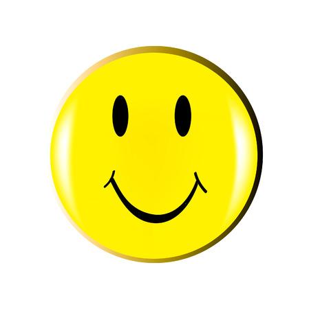 welcome smile: bonita ilustraci�n de cara feliz aislado sobre fondo blanco Vectores