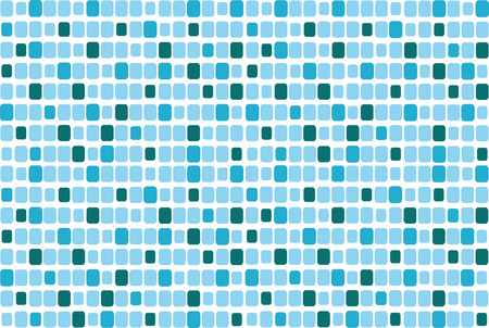 nice illustration of blue mosaic isolated on white background Vector