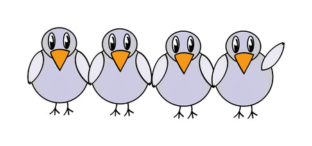 nice illustration of gray bird isolated on white background Vector