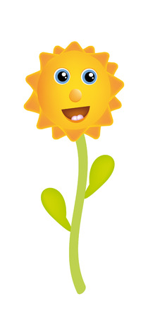 sunflower isolated: nice illustration of sunflower isolated on background