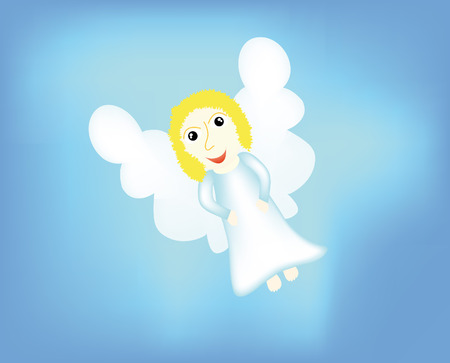 nice angel isolated on background Vector