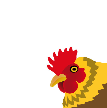 nice illustration of chicken isolated on white background Vector