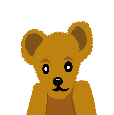 nice teddy bear isolated on white background Vector