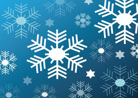 blue background with nice white snow flakes Stock Photo - 6575753