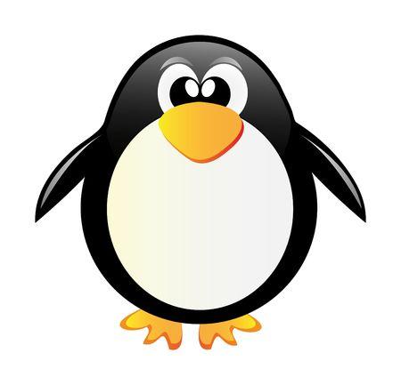 very nice illustration of penguin in Antarctida