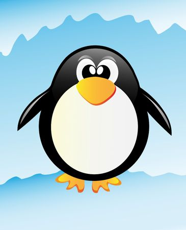 very nice illustration of penguin in Antarctida illustration