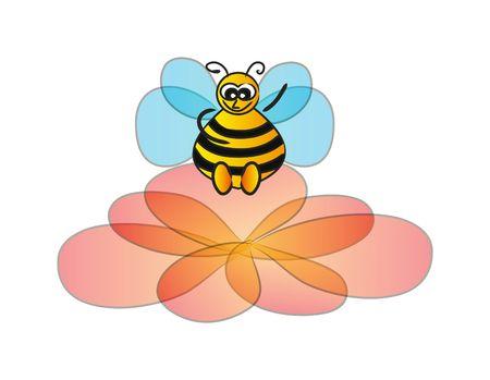 bee isolated on white background photo