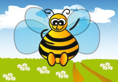 feeler: spring is here - little happy bee