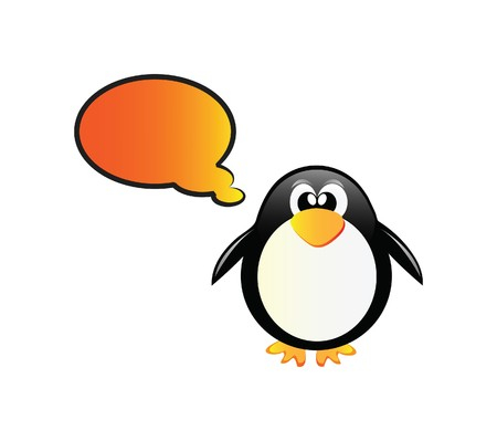 Very nice illustration of happy penguin, you can add your own text here illustration