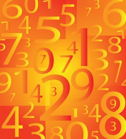 Fondo de número de moderno muy agradable con color naranja Foto de archivo - 6976679