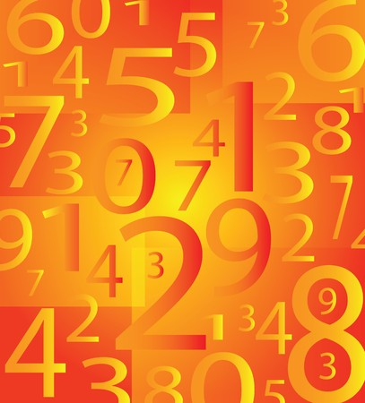 digital numbers: very nice moder number background with orange color