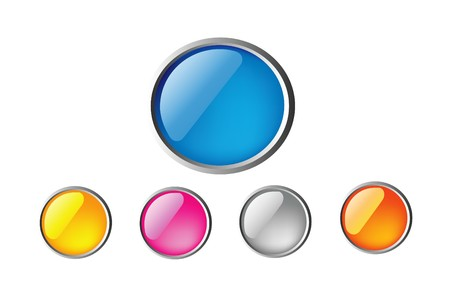 nice colorful glossy buttons isolated on white background Stock Vector - 6976699