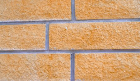 detail of a orange brick wall with gray lines Stock Photo - 7064150