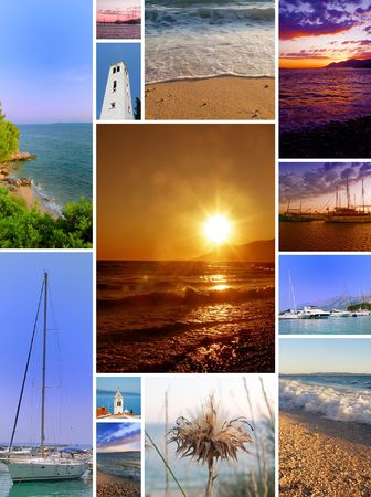 nice collage -  pictures of sunny beaches and summer days Stock Photo - 7186639