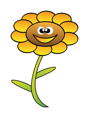 cartoon flower isolated on white background Vector