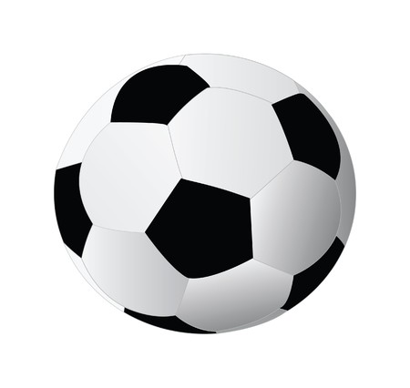 leisure games: soccer ball isolated on white background