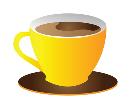 cup of coffee isolated on white background Vector