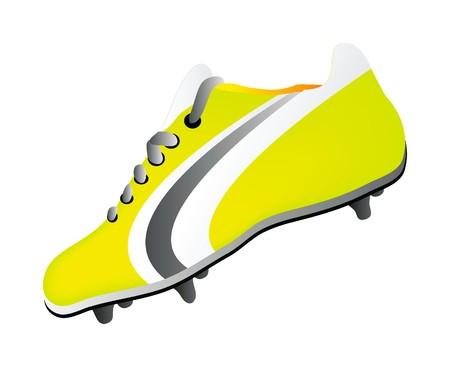 chaussure sport: chaussures de football isol�es sur fond blanc