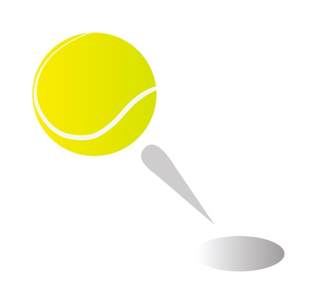 tennis ball isolated on white background Stock Vector - 7443301