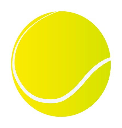 isolation: tennis ball isolated on white background Illustration