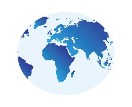 globus: nice illustration of world map - globus isolated over white