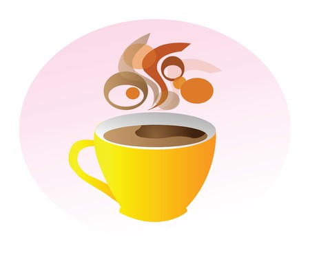 nice illustration - make a break and take one cup of coffee Vector
