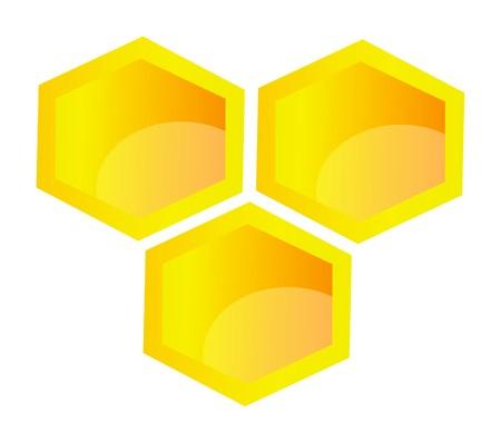 illustration of honeycomb isolated on white background Illustration