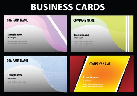 visit cards for your business - you can add your own text here Vector
