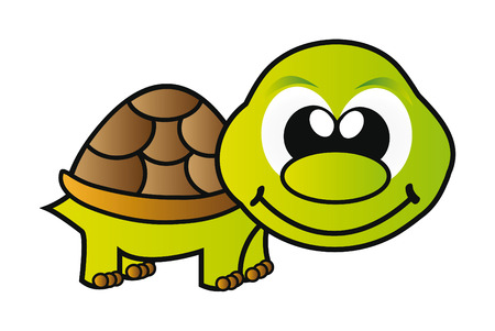 nice illustration - green young turtle isolated on white background Stock Vector - 7760777