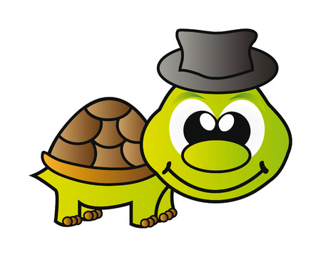 nice illustration - green young turtle isolated on white background Stock Vector - 7760791