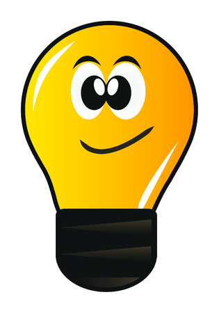 cartoon lamp with eye isolated over white background Illustration