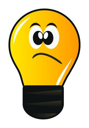 lámpara de dibujos animados con ojo aislado sobre fondo blanco  Ilustración de vector