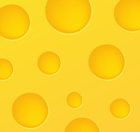 edibles: bella illustrazione con cibo movente - uno sfondo di formaggio  Vettoriali