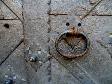 detail of an old church or castle door Stock Photo - 7992280