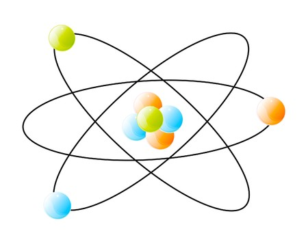 detail of atom isolated over white background Stock Photo - 8191646