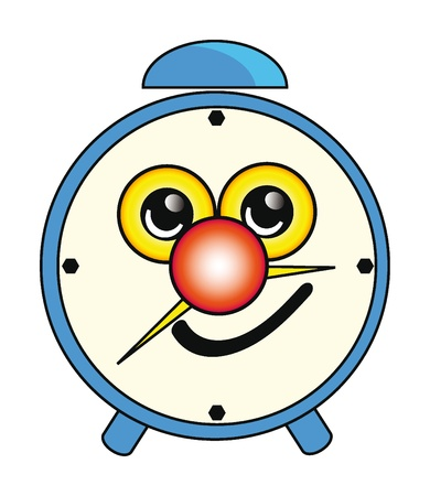 Illustration of happy cartoon alarm clock isolation over white background Stock Vector - 8904210
