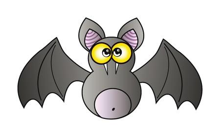 illustration of happy cartoon vampire isolation over white background Vector