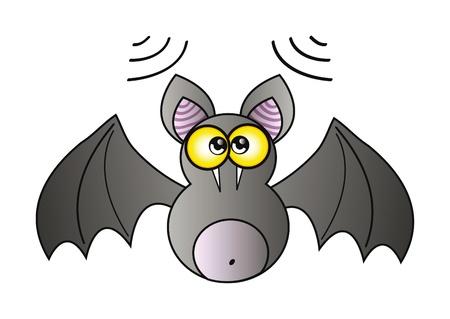 illustration of happy cartoon vampire isolation over white background Stock Vector - 8904214