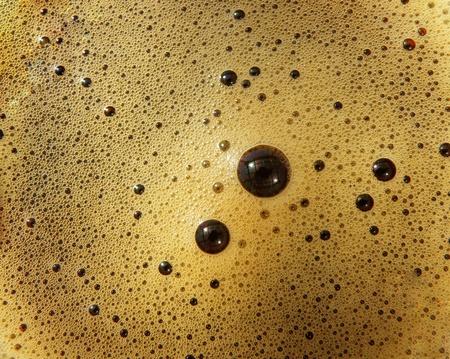 macro detail of hot coffee drink