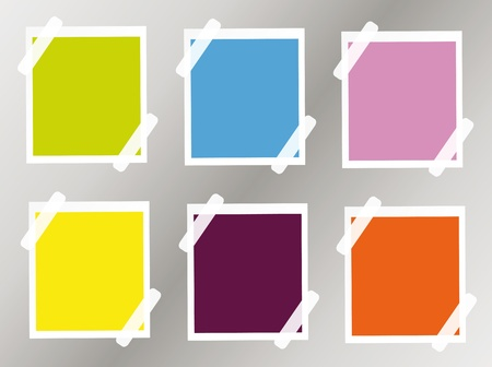 colorful post-its or stickers. You can put it your own text. Vector