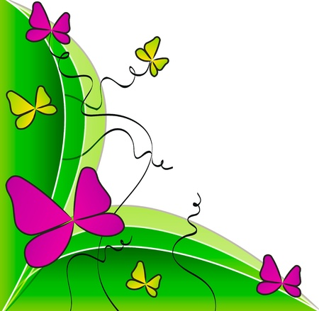 colorful butterflies elements for design isolated over white background Vector