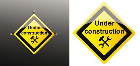 web icon of site under construction isolated over background Vector