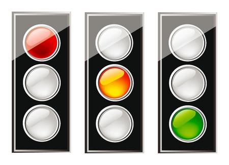 traffic control: bonita ilustraci�n de aislamiento de sem�foro sobre fondo blanco