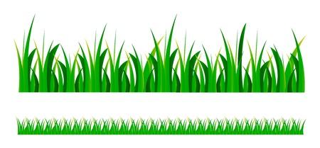 set illustratie van groen gras, geïsoleerd op witte achtergrond
