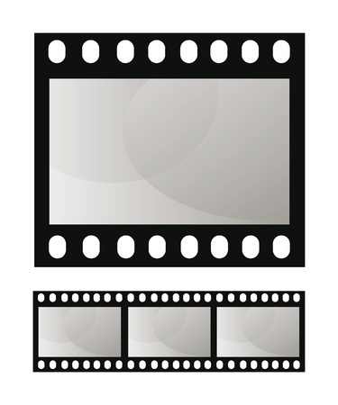 vector template photo film frame isolated over white background