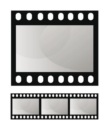 photo artistique: template vecteur films cadre photo isol� sur fond blanc Illustration